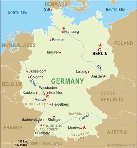 Географічне розташування німеччини